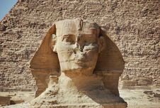 The Sphinx And The Chephren Pyramid Stock Photos