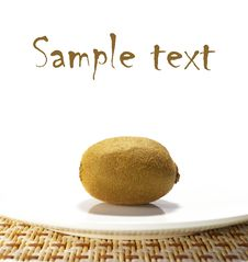 Free Sweet Ripe Kiwi Isolated Royalty Free Stock Photos - 5715328