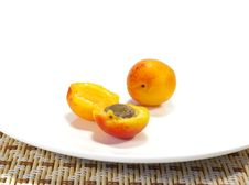 Free Ripe Apricots And Black Currant Royalty Free Stock Photos - 5715508