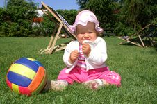 Free Girl And Ball Stock Images - 5715964