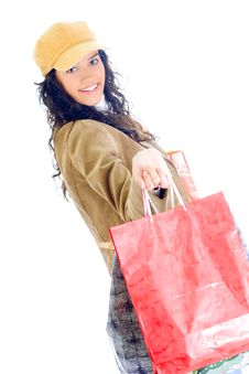 Free Attractive Young Lady With Shopping Bags Stock Photo - 5715970