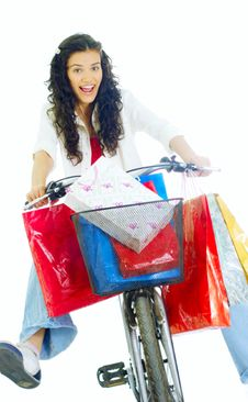 Free Attractive Young Lady With Shopping Bags Royalty Free Stock Photo - 5716165