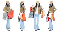Free Attractive Young Lady With Shopping Bags Royalty Free Stock Images - 5716209