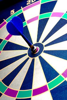 Free Magnetic Dart Board With Darts Stock Photo - 5716990