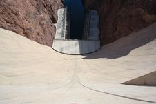 Free Hoover Dam Looking Over The Rim Stock Image - 5717521