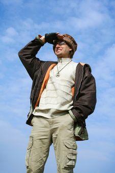 Free Man Tourist Royalty Free Stock Photo - 5717745