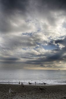 Free Beach And Clouds Stock Photos - 5718193