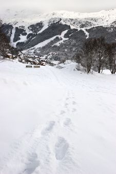 Free Footprints At Hillside Stock Images - 5718474