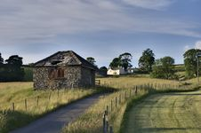 Small Rural Barn & Farmhouse Royalty Free Stock Photos
