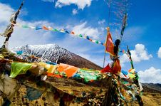 Free Prayer Flag In The Sky Royalty Free Stock Image - 5718896