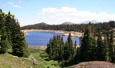 A Lake At Timberline Stock Image