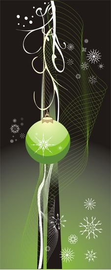 Free Snowflakes And Christmas Ball. Abstract Background Royalty Free Stock Photography - 5719737