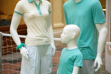 Free Family Of Mannequins Stock Image - 5721791