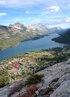 Free Bird View Of Waterton Village Stock Photos - 5721853