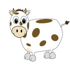 Free Cartoon Cow 1 Stock Image - 5722221
