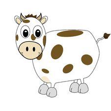 Cartoon Cow 1 Stock Image