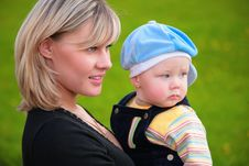 Free Close-up Portrait Mother With Son On Hands Stock Photos - 5722823
