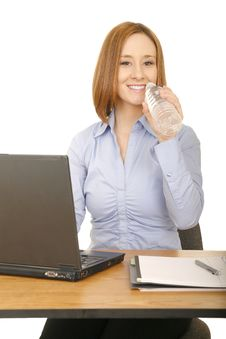 Free Casual Office Woman Stock Photography - 5723132