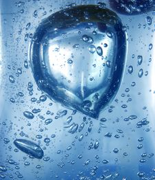 Blue Water With Bubbles Stock Photos
