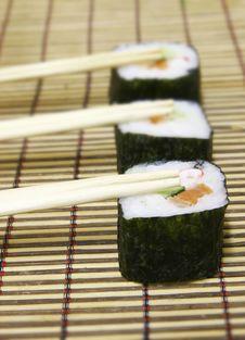 Free Sushi And Chopsticks Stock Images - 5723754