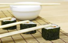 Free Sushi With Chopsticks Stock Photography - 5723832