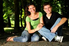 Casual Couple In Love Royalty Free Stock Photo
