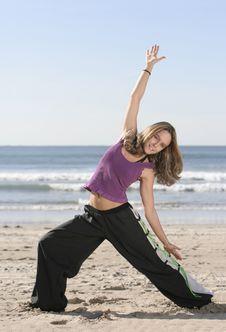 Free Woman Stretching Stock Photo - 5724650