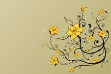 Free Beautiful Floral Grunge Background Stock Photography - 5724762