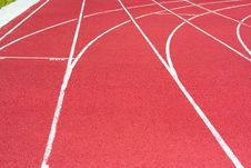 Free Track On The Stadium Stock Image - 5724771