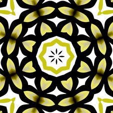 Stained Glass Floral Mosaic Stock Photos