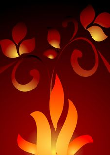 Free Abstract Floral Flame Background Stock Photos - 5725143