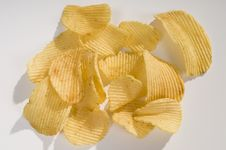 Free Pile Of Potato Chips Royalty Free Stock Photo - 5725725