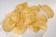 Pile Of Potato Chips Royalty Free Stock Photos