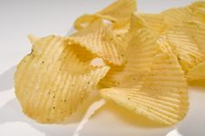 Free Pile Of Potato Chips Royalty Free Stock Images - 5725729
