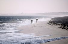 Two Lonesome People Stock Photo