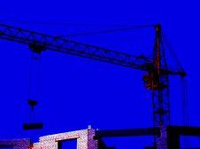 Free The Working Hoisting Crane. Royalty Free Stock Image - 5727126
