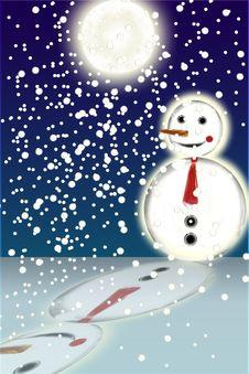 Free Snowman Stock Photography - 5727382