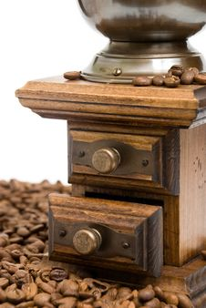 Old Fashioned Coffee Grinder Stock Image