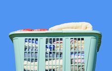 Laundry In Hamper Stock Photos