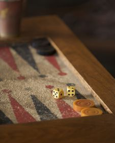 Free Backgammon Board And Dice Stock Photos - 5727953