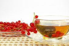 Free Red Currant And Tea In A Transparent Cup Royalty Free Stock Image - 5728006