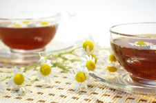 Free Chamomile And Herbal Tea Royalty Free Stock Photos - 5728338