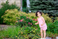 Free Girl In Flower Garden Stock Photography - 5731262
