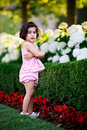 Free Girl In Flower Garden Royalty Free Stock Photo - 5731315
