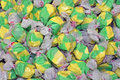 Free Colorful Green & Yellow Salt Water Taffy Stock Photos - 5739403