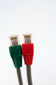 Free Connectors RJ45 Royalty Free Stock Image - 5730106