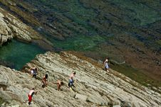Free Young People In The Rocks Royalty Free Stock Photo - 5730305