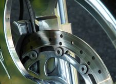 Free Motorcycle Disk Brake Royalty Free Stock Photography - 5730397