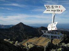 Mountain Crossroad Royalty Free Stock Photo