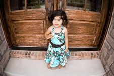 Free Child And Antique Door Stock Photos - 5730923